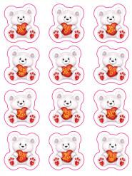 Klistermärken gosebjörnar