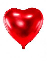 Röd aluminium hjärtballong 45cm