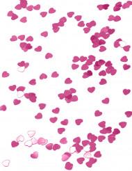 Rosa metallisk hjärtformad konfetti