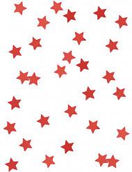 Röda metallstjärnor - Konfetti till jul