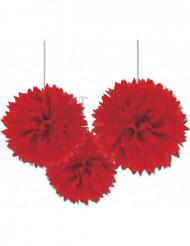 Röd hängande dekoration