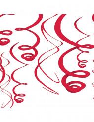 Hängande dekoration i rött - 55,8 cm