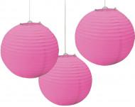 3 rosa rislyktor till festen - Festdekoration