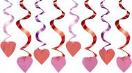 Hängande röd hjärtdekoration