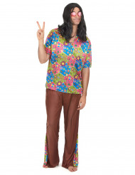 Fredliga Fred - Hippiekostym för vuxna till temafesten