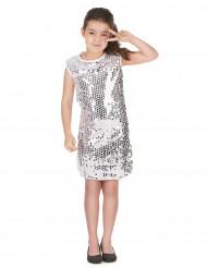 silver paljett-disco-dräkt barn