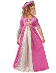 Medeltidsprinsessa kostym barn