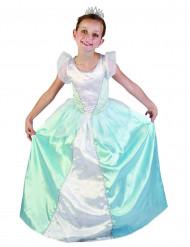 Blå prinsessdräkt barn