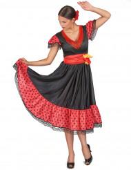 Kostym flamencodansös dam