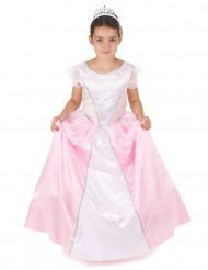 Rosa och vit prinsessdräkt