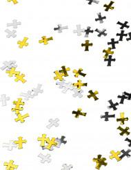 Gyllene och silverfärgade kors till konfirmationen