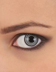 Llinser med spiral i svart och vitt - Maskeradsminkning
