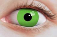 Neongröna kontaktlinser för vuxna Halloween