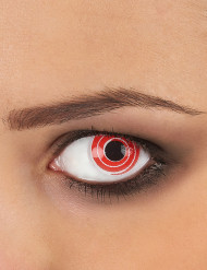 Fantasilinser med spiral i rött och vitt vuxna