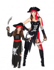 Piratdräkt - Pardräkt för Vuxen och Barn