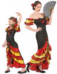 Flamencodansande par - Maskraddräkt i vuxen- och barnstorlek