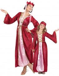 Medeltida drottning och prinsessa - Pardräkt till maskeraden