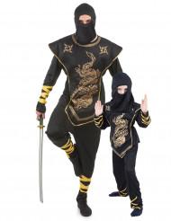 Stor och liten ninja - Pardräkt för vuxen och barn