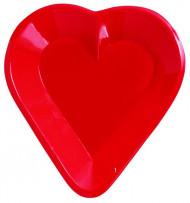 Röd plastskål