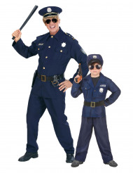 Liten och stor polis - Pardräkt för vuxen och barn