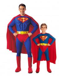 Lilla och stora stålmannen - Pardräkt för vuxen och barn