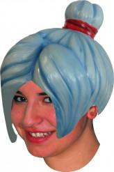 Blå mangaperuk för vuxna till festen