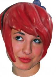 Röd mangaperuk i latex för vuxna
