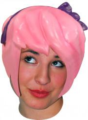 Rosa mangaperuk för vuxna till maskeraden