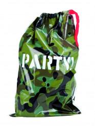 6 plastpåsar i kamouflagefärg