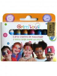 6 sminkkritor i metallicfärg utan parabener Grim Tout