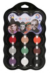 Palett med 9 färger Halloween Grim Tout