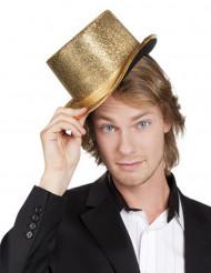 Hög hatt guldig vuxen