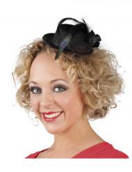 Minihatt i svart för vuxna