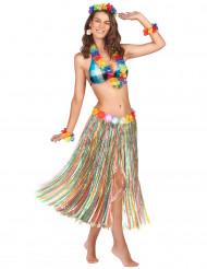 Lång flerfärgad kjol med Hawaii-inspiration
