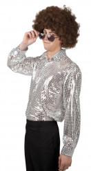 Silvrig Discoskjorta Man