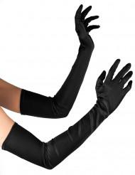 Långa svarta handskar - Halloweentillbehör