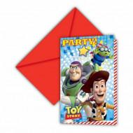 6 inbjudningskort Toy Story Star Power ™