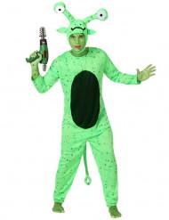 Grön alien-dräkt man