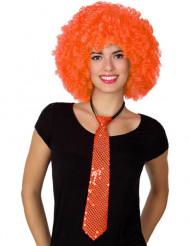 Orange slips med paljetter - Maskeradtillbehör