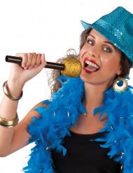 Mikrofon sångare guldig