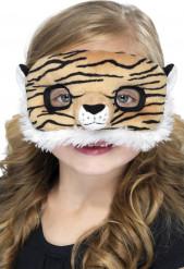 Mask i plysch tiger barn