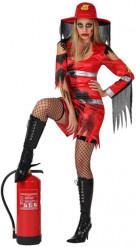 Innebränd brandman - Halloweenkostym för vuxna