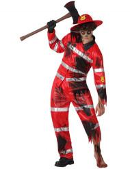 Zombie brandman - utklädnad vuxen Halloween