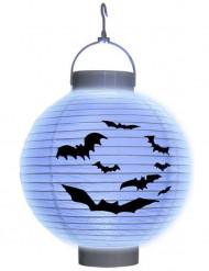 Lila fladdermuslykta med LED-ljus till Halloween