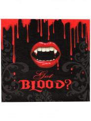 16 servetter med vampyrmun - Halloweendukning