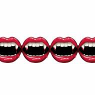 Girlang av vampyrmunnar - Halloweendekoration 2,4 m