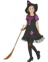 Tjusig häxa i lila - Halloweenkostym för barn