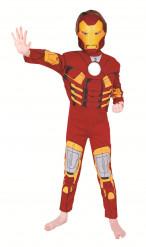 Dräkt Iron Man™ lyx barn