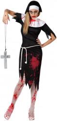 Zombie i nunnedräkt - Halloweenkostym för vuxna