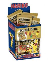 Minipåse med guldnallegodis Haribo